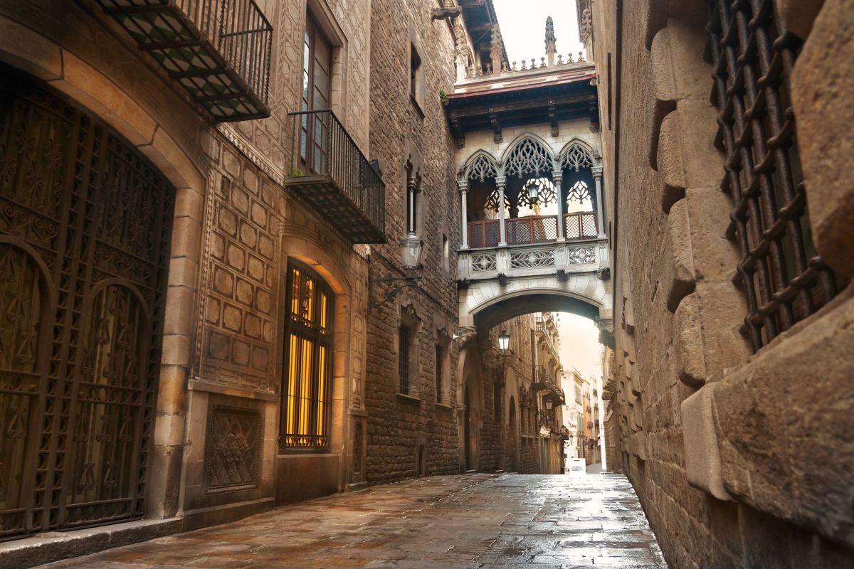 Gotická štvrť v barcelone