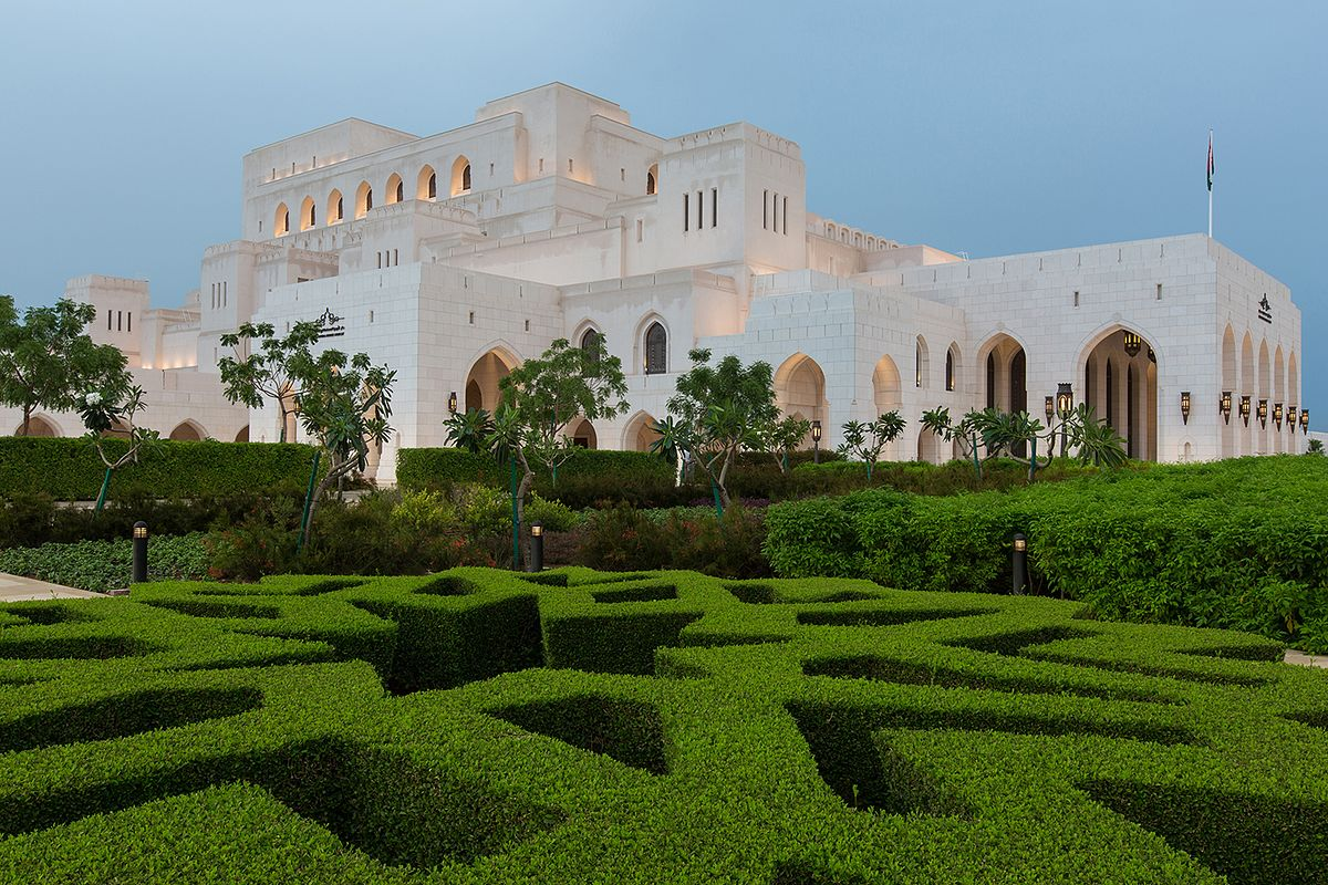 Budova kráľovskej opery v ománe