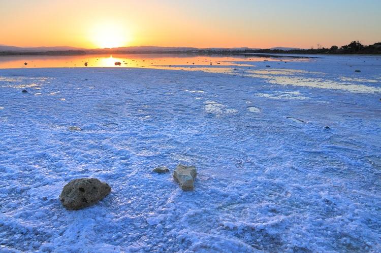 Soľné jazero na Cypre