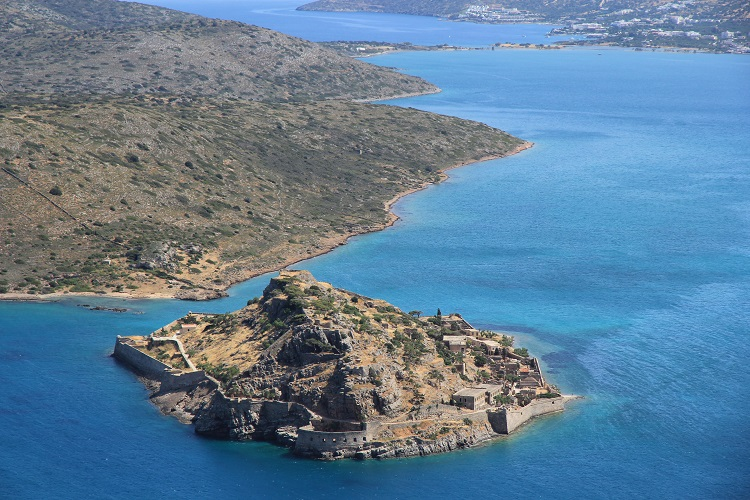 ostrov spinalonga pri krete