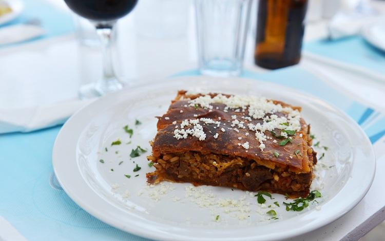 Tradičný mäsový koláč na Kefalónii