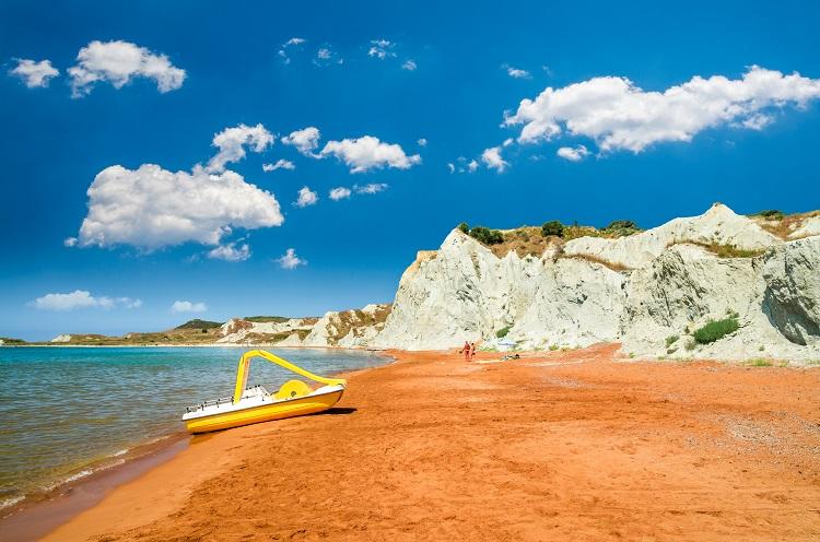 Pláž Xi na Kefalónii