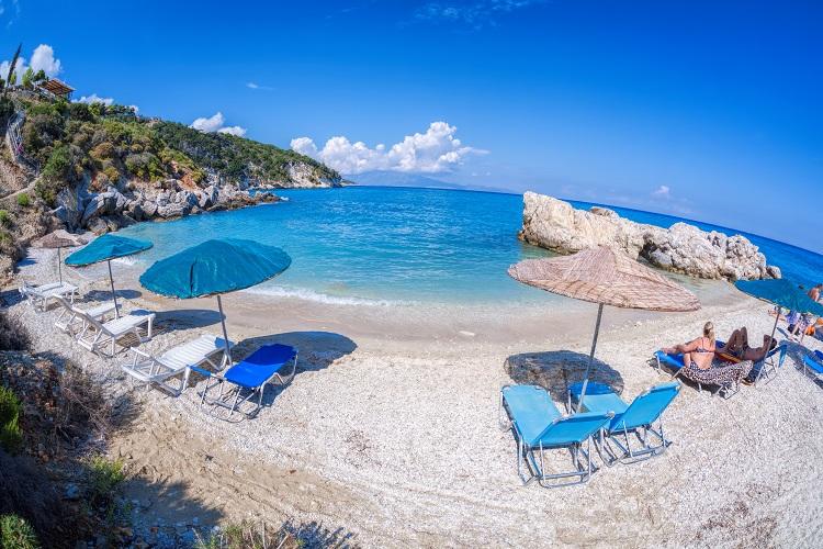 Pláž Xigia na Zakyntose