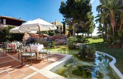 Vonkajšie posedenie v hoteli Grupotel Playa Club