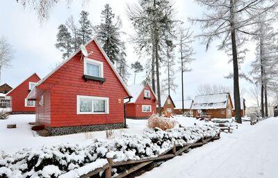 Zimný pohľad na apartmány Tatry Holiday Resort