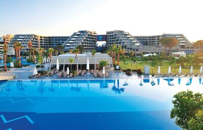 Hotel Susesi Luxury Resort, Belek, pohľad od bazéna