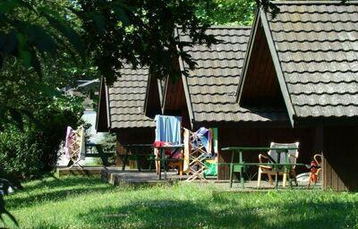 Pohľad na bungalovi Club Tihany