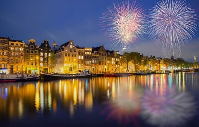 Amsterdam počas Silvestra