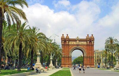 Víťazný oblúk, Barcelona, poznávací zájazd, Španielsko