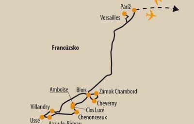 Zastávky počas zájazdu vo Francúzsku