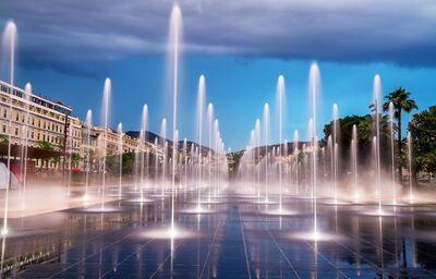 Fontána na námestí Place Masséna