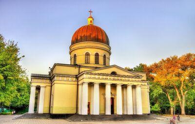 Kišiňovská katedrála s oddelenou zvonicou