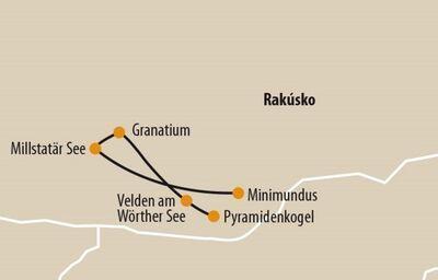 Mapa zastávok v Rakúsku