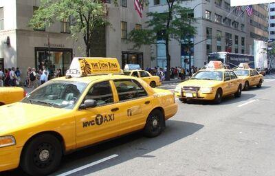 Tradičné taxíky v New Yorku