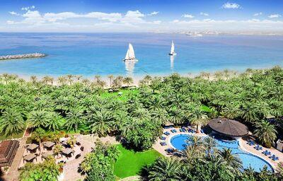 Areál hotela Sheraton Jumeirah Beach Resort