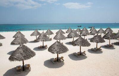 Pláž pred hotelom Gold Zanzibar Beach House & Spa