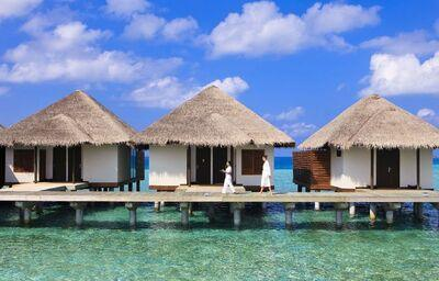 Domčeky nad vodou v rezorte Velassaru Maldives
