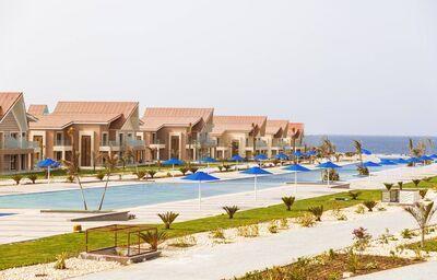 Pohľad na domčeky hotela Albatros Sea World