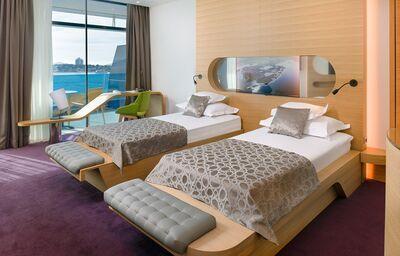 Izba s výhľadom na more v hoteli Olympia Sky
