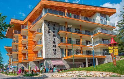 Pohľad na apartmány Hrebienok Resort