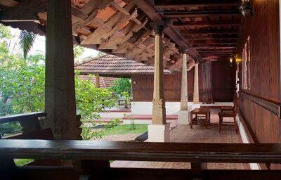 Terasa hotela The Travancore Heritage