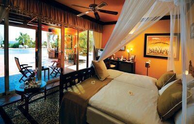 Izba s výhľadom na bazén v hoteli Diamonds La Gemma Dell´ Est
