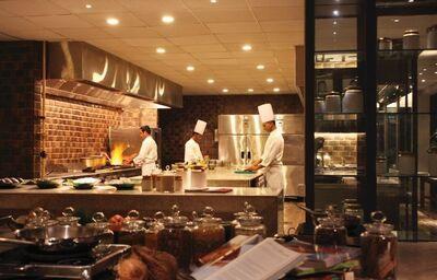 Kuchyňa hotela Alila Diwa Goa Deluxe