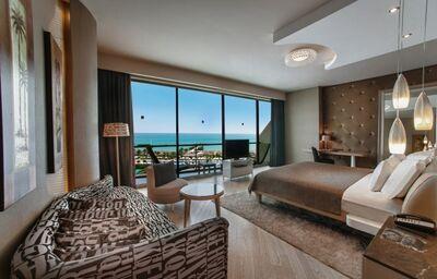 Izba s výhľadom na more v hoteli Maxx Royal Belek