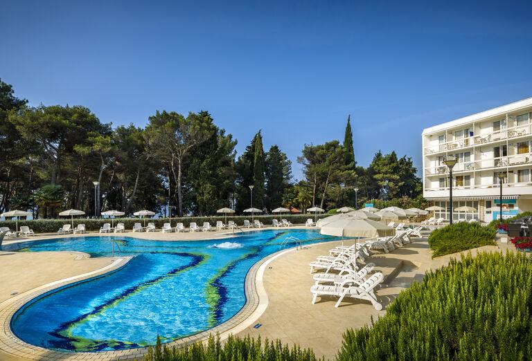 pohľad na hotel Aminess laguna