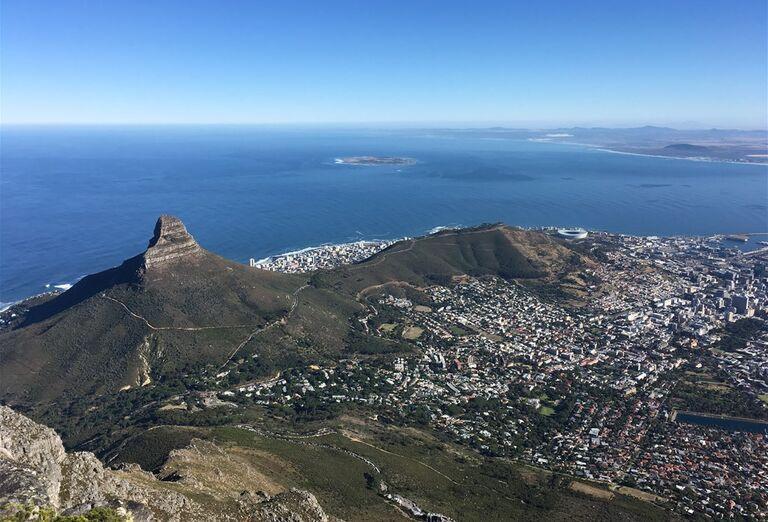 Kapské Mesto - pohľad na mesto