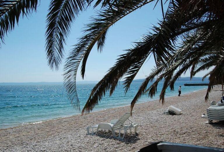 Pláž pri hoteli Vila Viskovič