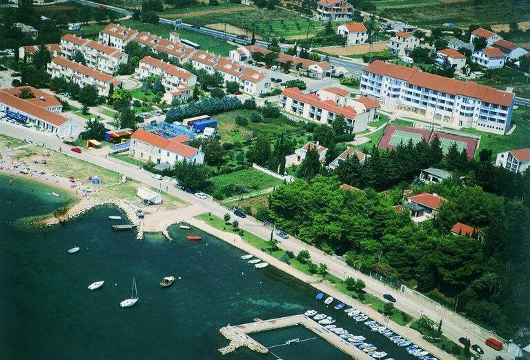 Pohľad zhora na apartmány Croatia