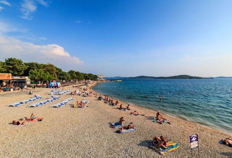 Dlhá pláž v hoteli Olympia