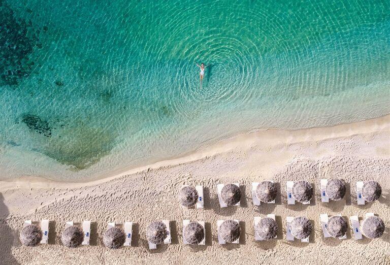 Pláž Hotel Mykonos Blu Grecotel Exclusive Resort *****