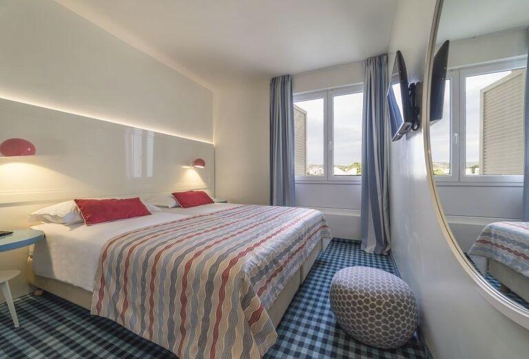 Izba s výhľadom na more v hoteli Amadria Park Adrija