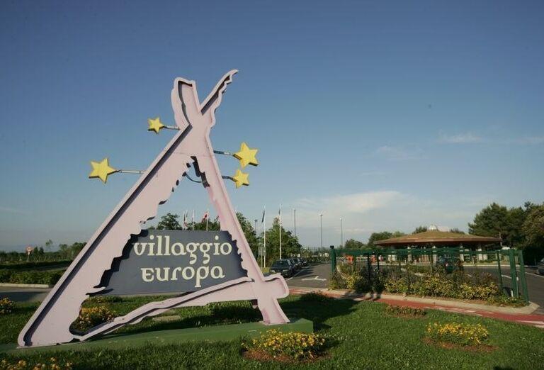 Vstup do areálu apartmánov Villaggio Europa