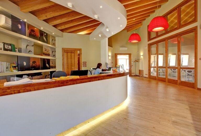 Recepcia rezidencie Airone Bianco