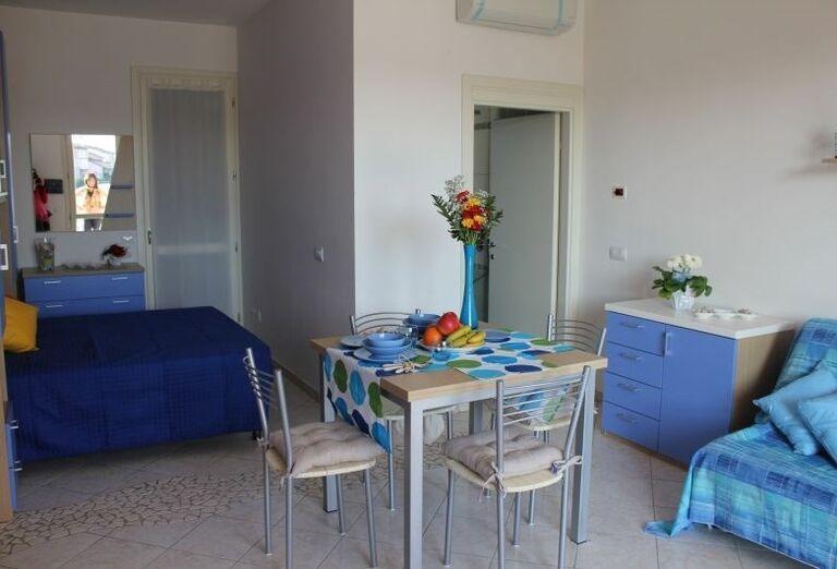 Pohovka na ubytovaní v rezidencii Airone Bianco