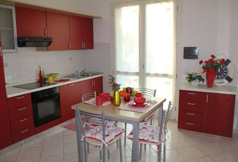 Kuchynský kút na izbe v rezidencii Airone Bianco