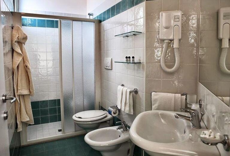Kúpeľňa v hoteli Ricchi