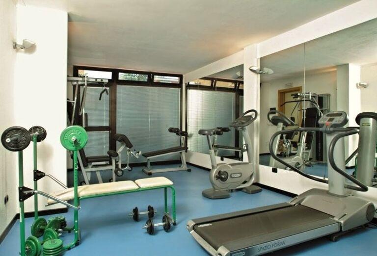 Fitnes v hoteli Ricchi