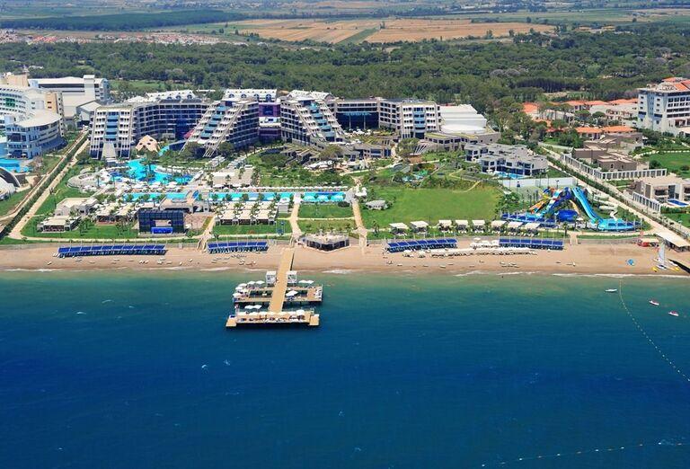 Hotel Susesi Luxury Resort, Belek, pohľad od mora