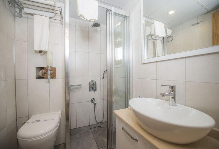 Kúpeľňa v hoteli Sandy Beach