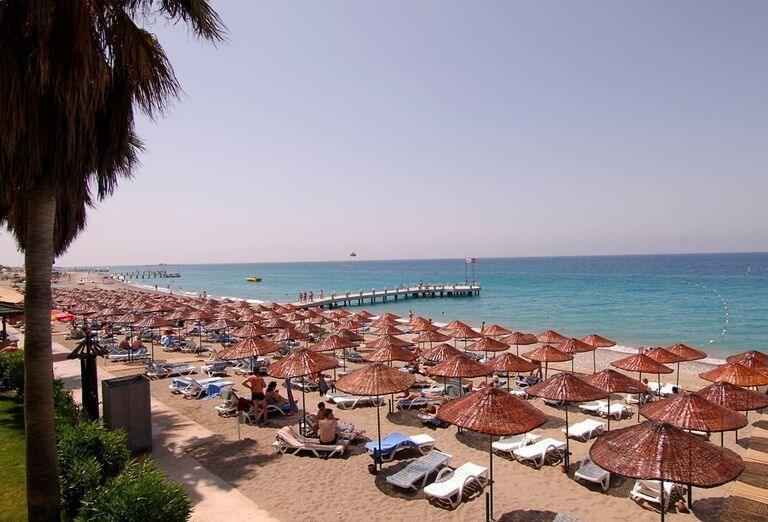 Hotel Meryan, Alanya, pláž