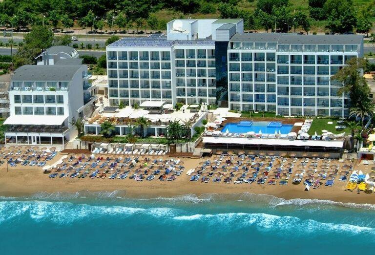 Hotel Yalihan, Alanya, pohľad od mora