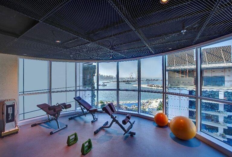 Fitnes v hoteli Dukes Dubai