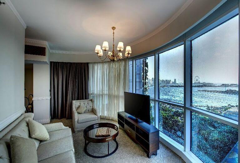 Izba s výhľadom na more v hoteli Dukes Dubai
