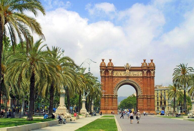 Víťazný oblúk Parc de la Ciutadella v Barcelone