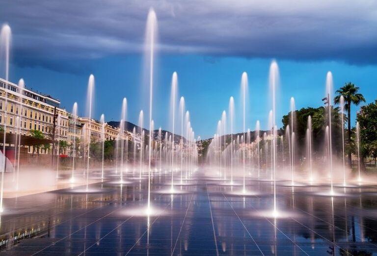 Fontána v Nice
