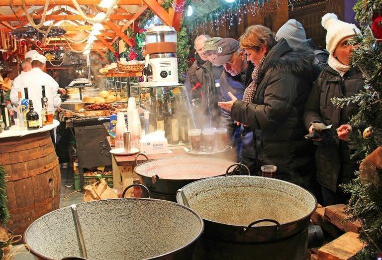 Stánky na vianočných trhoch